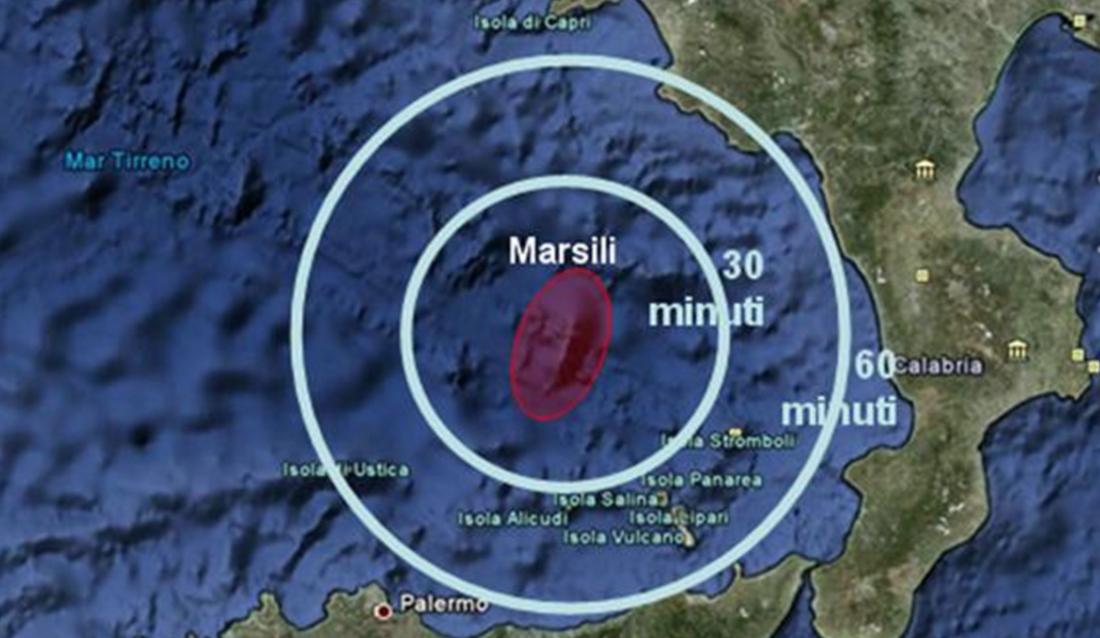 Rischio tsunami Eruzione Vulcano Marsili più grande Europa Mar TIrreno Campania Calabria Siclia